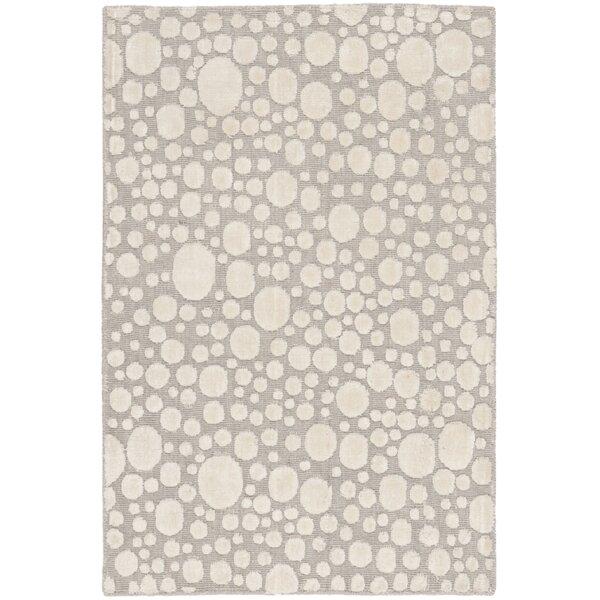 Oliverio Hand-Woven Gray/Cream Area Rug by Orren Ellis