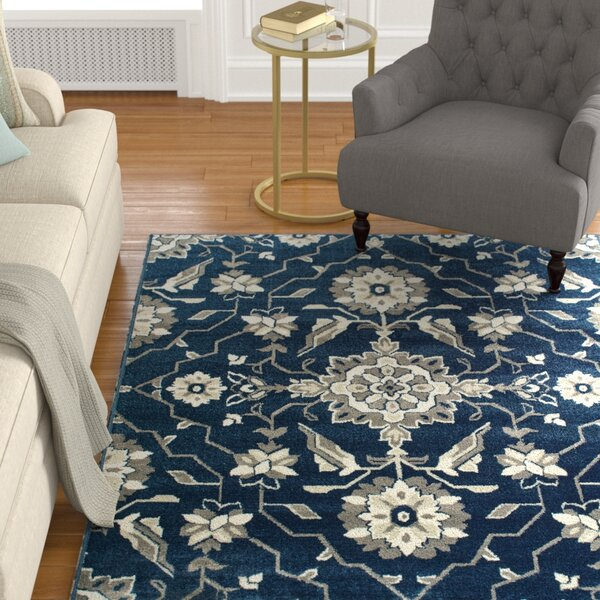 Dartington Borderless Traditional Blue/Grey Area Rug by Charlton Home