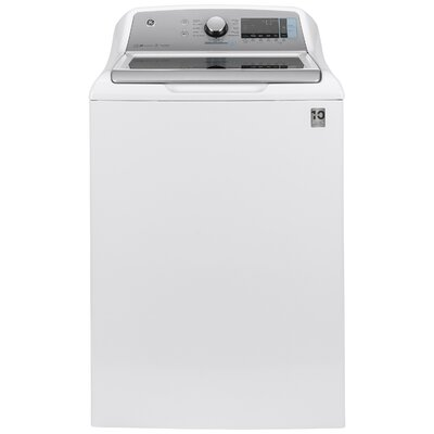 5.2 cu. ft. Energy Star High Efficiency Top Load Washer with Smartdispense GE Appliances Color: White -  GTW840CSNWS
