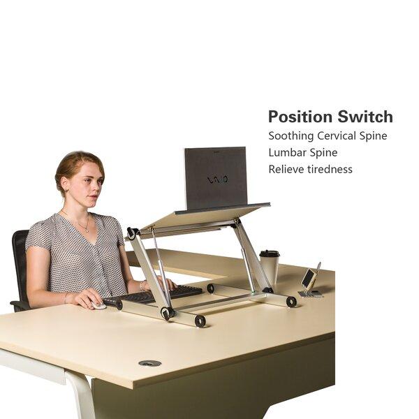 Velez Height Adjustable Standing Desk Converter by Symple Stuff