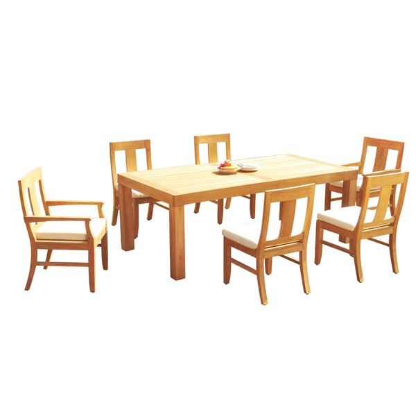 Loyola 7 Piece Teak Dining Set by Rosecliff Heights