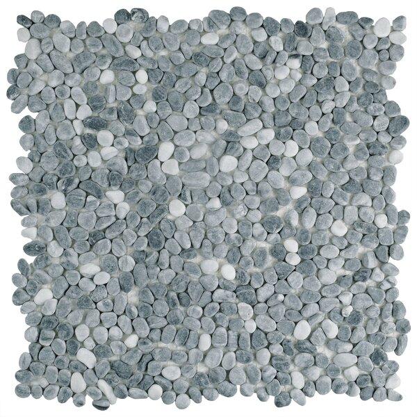 Kamyk 12.25 x 12.25 Pebble Stone Mosaic Tile in Light Gray by EliteTile