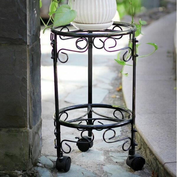 Dual Plant Stand with Wheels by ORE Furniture