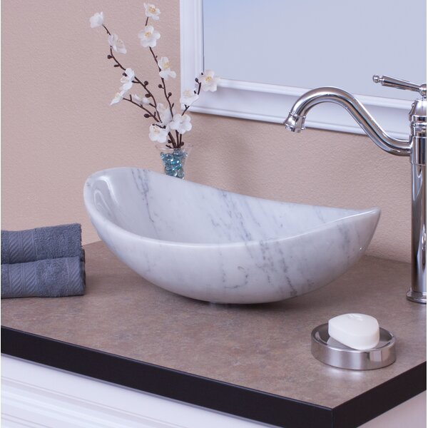 Carrera Stone Oval Vessel Bathroom Sink by Novatto
