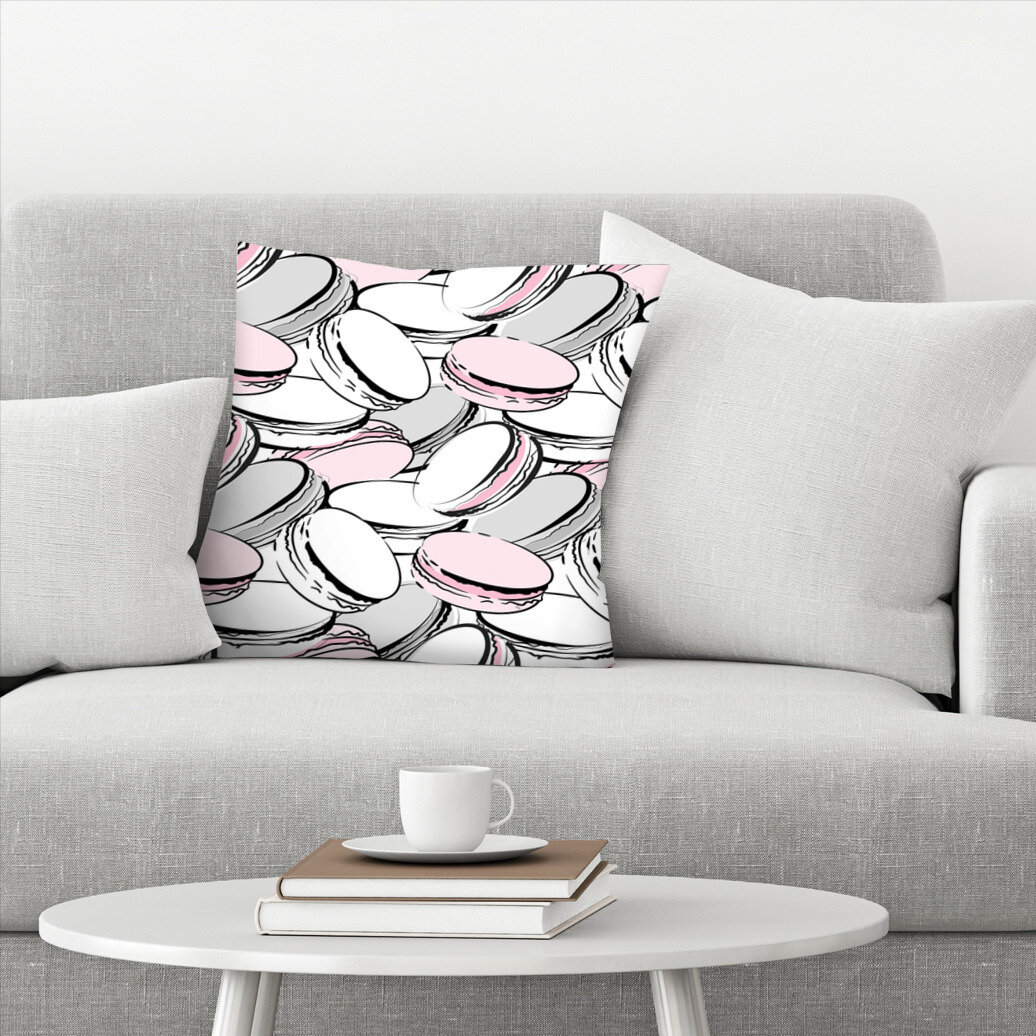 East Urban Home Macarons Throw Pillow Wayfair