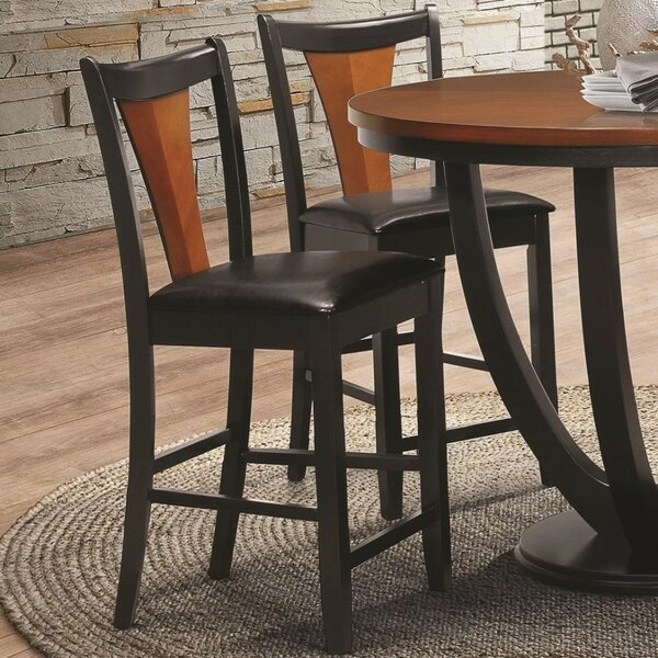Yonker Two-Tone Serene Bar Stool (Set of 2) by Bloomsbury Market Bloomsbury Market