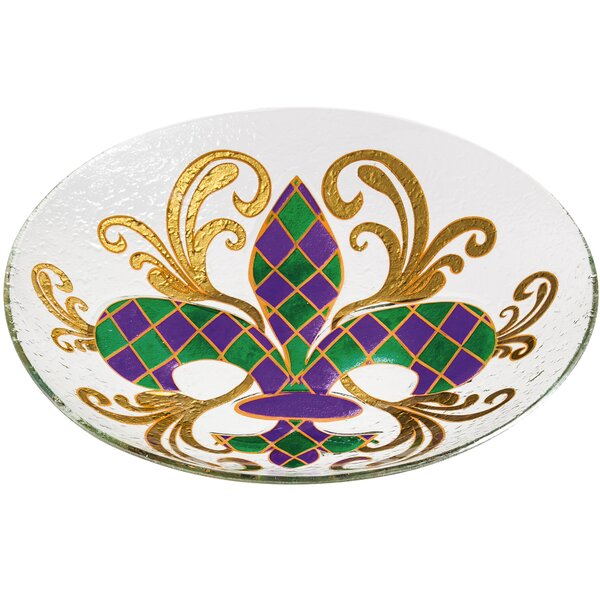 Festive Fleur De Lis Birdbath by Evergreen Enterprises, Inc