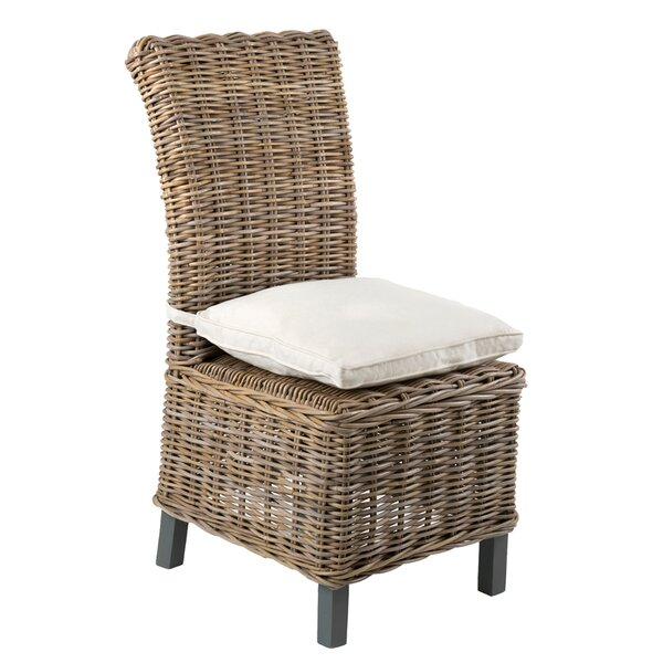 Vitiello Patio Dining Chair with Cushion (Set of 2) by Highland Dunes