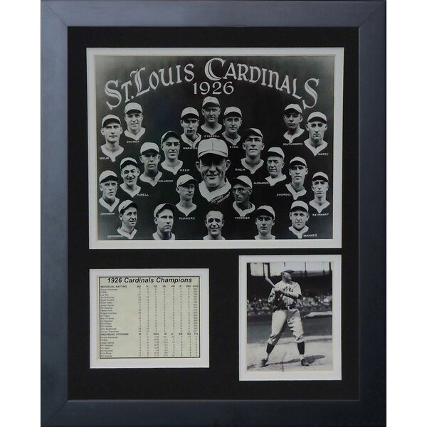 1926 St. Louis Cardinals Framed Memorabilia by Legends Never Die