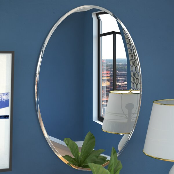 Contemporary Oval Bevel Wall Mirror by Brayden Studio