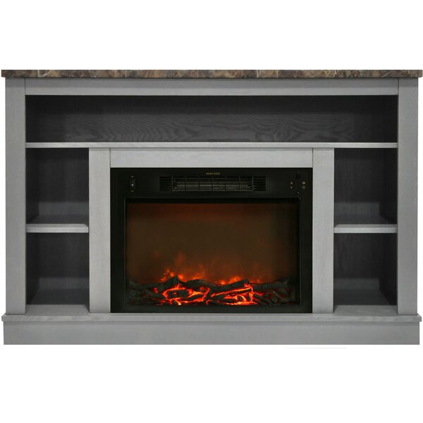 Eudora TV Stand with Electric Fireplace by Charlton Home