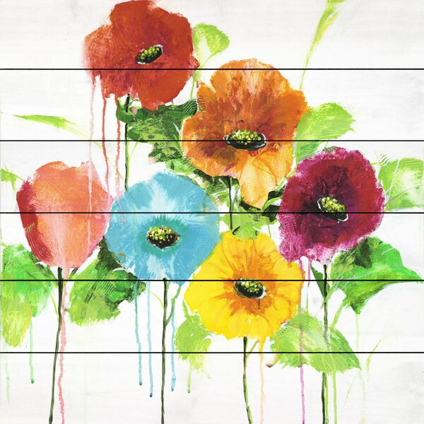 Cheery Bloomers II by Julie Joy Painting Print on Wood by Marmont Hill