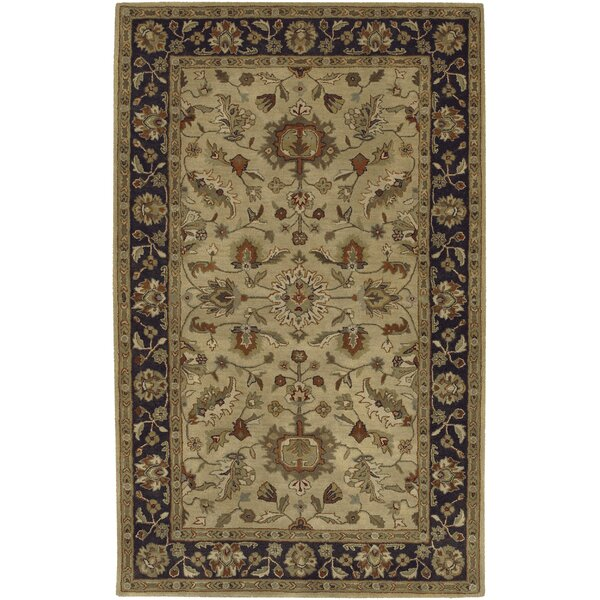 Stanford Gold/Charcoal Rug by Charlton Home