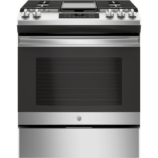 30 Slide-In Gas Range with Griddle by GE Appliances