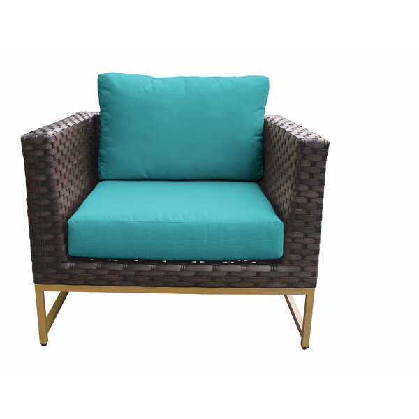 Sumpter Patio Chair with Cushions by Wrought Studio Wrought Studio