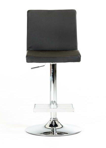 Clower Contemporary Full Back Adjustable Height Swivel Bar Stool by Orren Ellis
