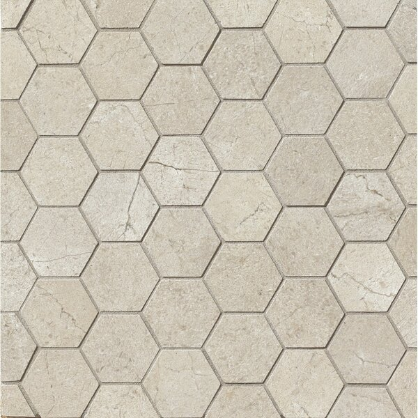 El Dorado 2 x 2 Porcelain Hexagon Mosaic Tile in Rock by Grayson Martin