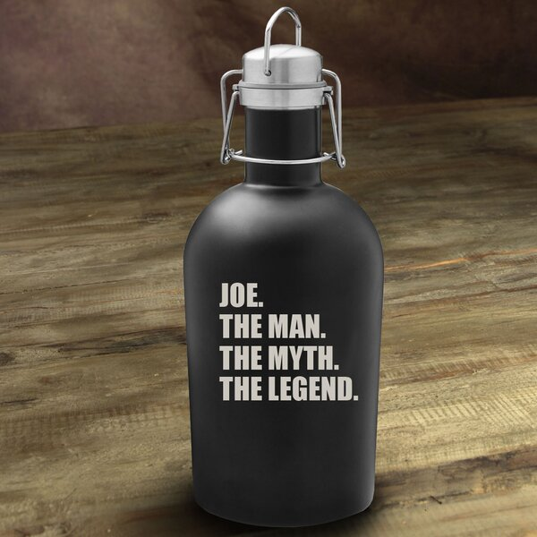 The Man/The Myth/The Legend 64 Oz. Beer Growler by JDS Personalized Gifts