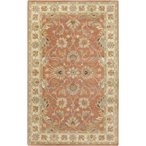 Arden Burnt Orange Tufted Wool Area Rug by Birch Lane™