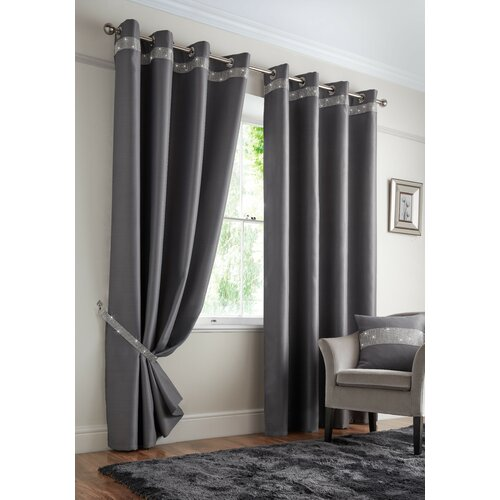 Mckee Palace Eyelet Blackout Thermal Curtains Rosdorf Park