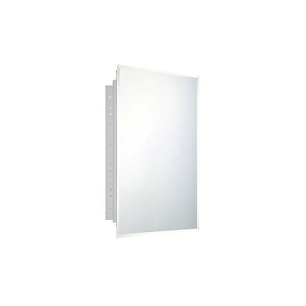 Brice 18 x 30 Recessed Frameless Medicine Cabinet with 3 Adjustable Shelves