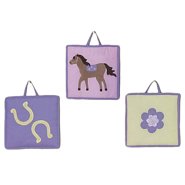 3 Piece Pony Collection Wall Hanging Set by Sweet Jojo Designs