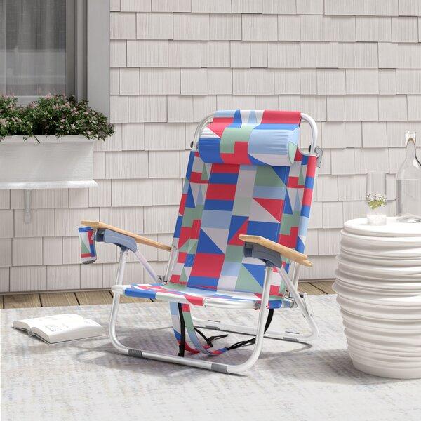 Regalado Reclining Beach Chair With Cushion By Brayden Studio