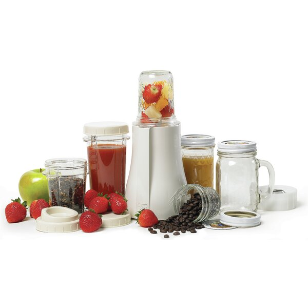 BPA Free Mason Jar Personal Blender with Grinder by Tribest