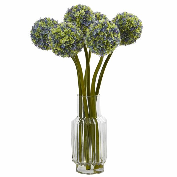 30 Ball Flower Floral Arrangement in Decorative Vase by Darby Home Co