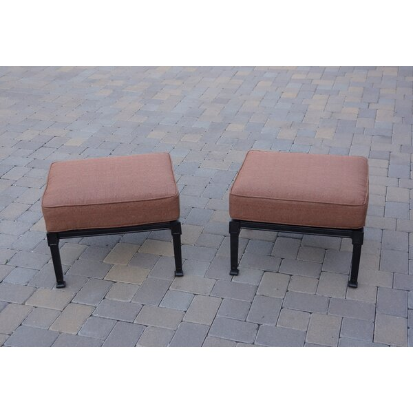 Mintz Outdoor Ottoman with Cushion (Set of 2) by Canora Grey
