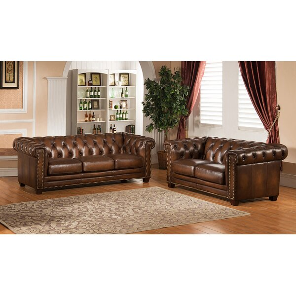 Hickory 2 Piece Leather Living Room Set by Amax