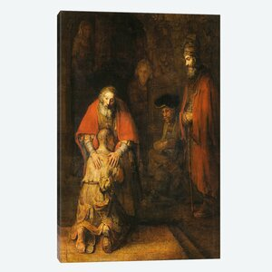 Return of the Prodigal Son 1668-1669 by Rembrandt Painting Print on Canvas by iCanvas