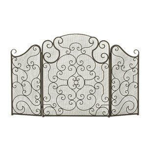 black iron fireplace screen. 3 Panel Metal Fireplace Screen Screens  Doors You Ll Love Wayfair Ca