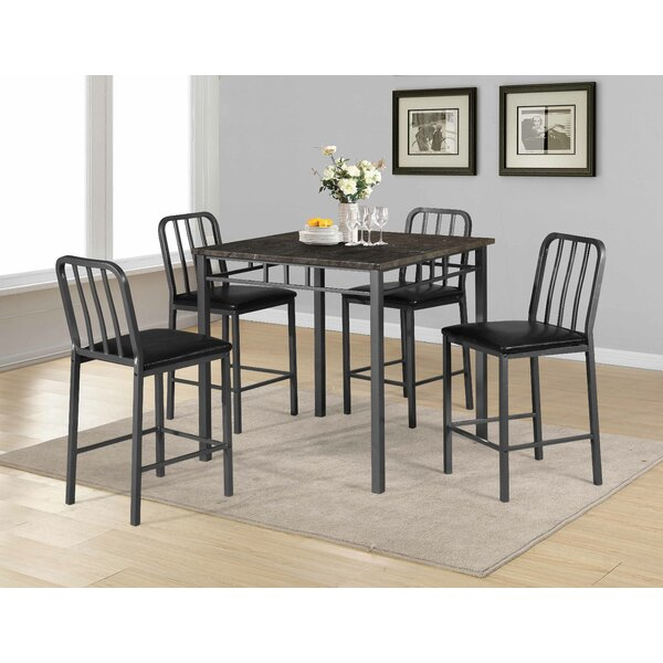 Destiney 5 Piece Pub Table Set by 17 Stories