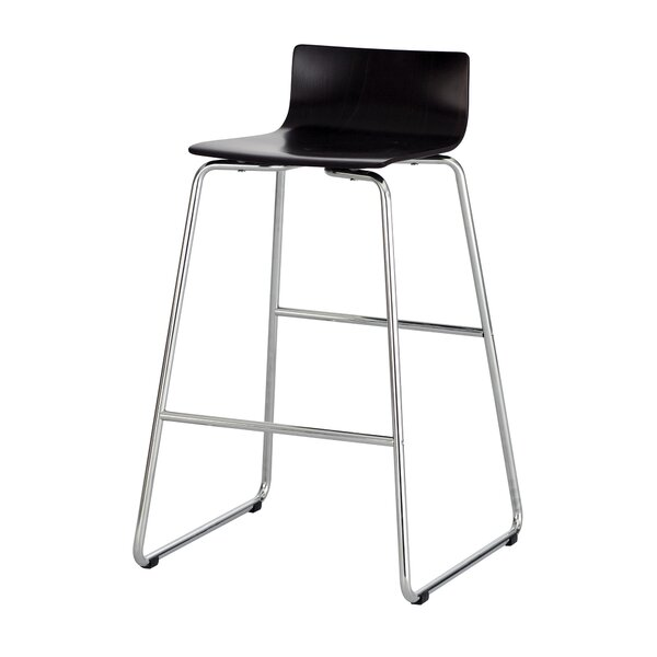 Caiden Bar-Height Steel Stool by Rebrilliant