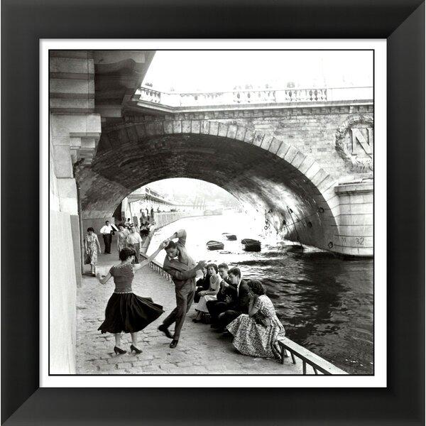 Rock n Roll sur les Quais de Paris by Paul Almasy Framed Photographic Print by Evive Designs