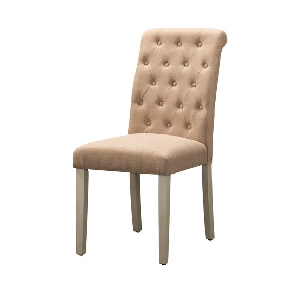 Goshen Tufted Fabric Upholstered Side Chair In Brown (Set Of 2) By Ophelia & Co.