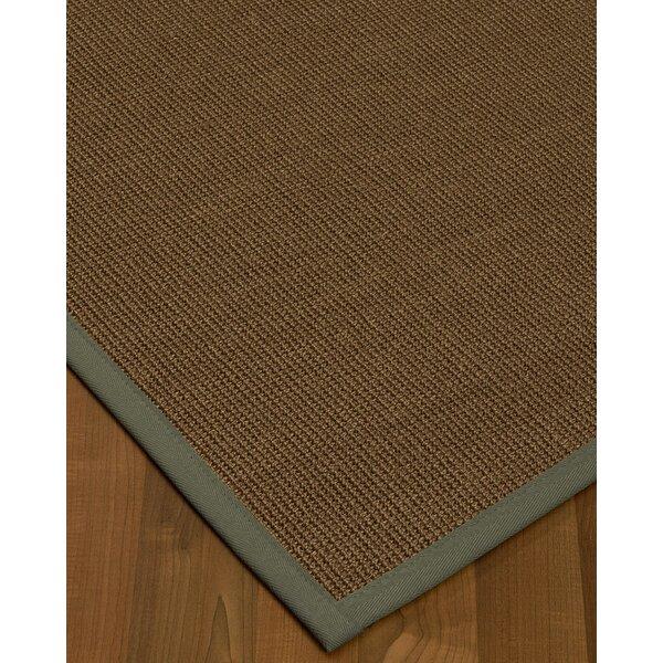 Kerner Border Handmade Flatweave Wool Brown/Stone Area Rug