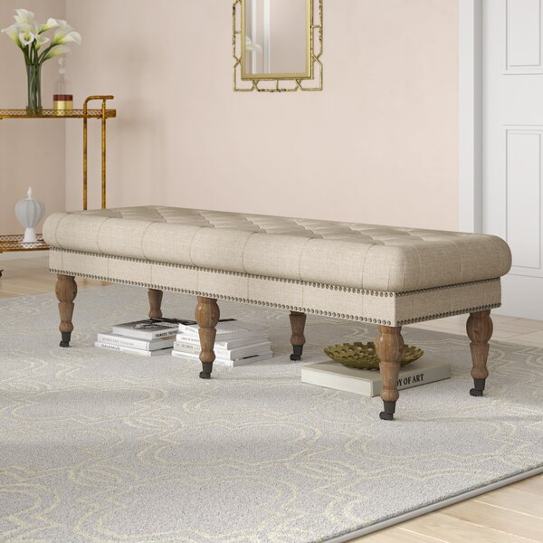 Loren Wood Bench by House of Hampton
