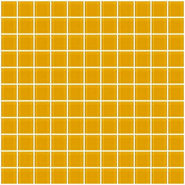 1 x 1 Glass Mosaic Tile in Dark Yellow by Susan Jablon