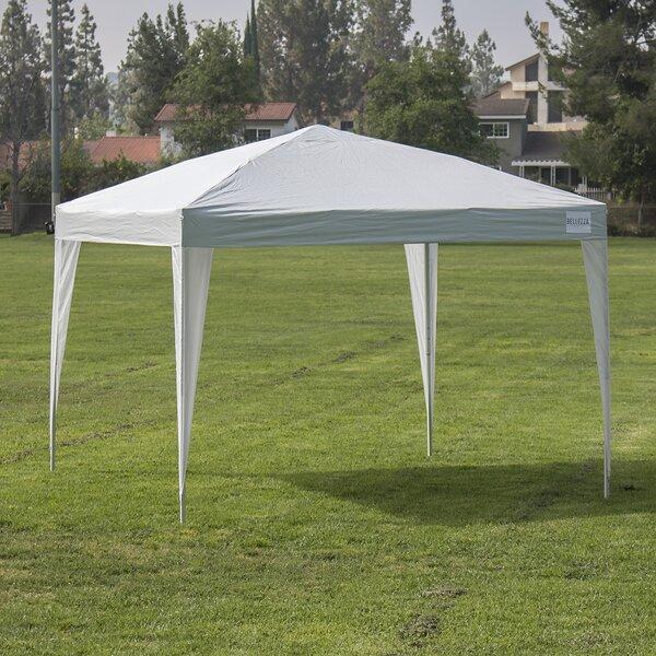 Ft. W x 10 Ft. D Steel Pop-Up Canopy by Belleze