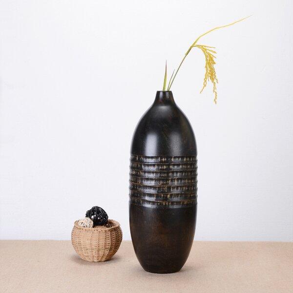 Keyone Round Mango Wood Table Vase by Bay Isle Home