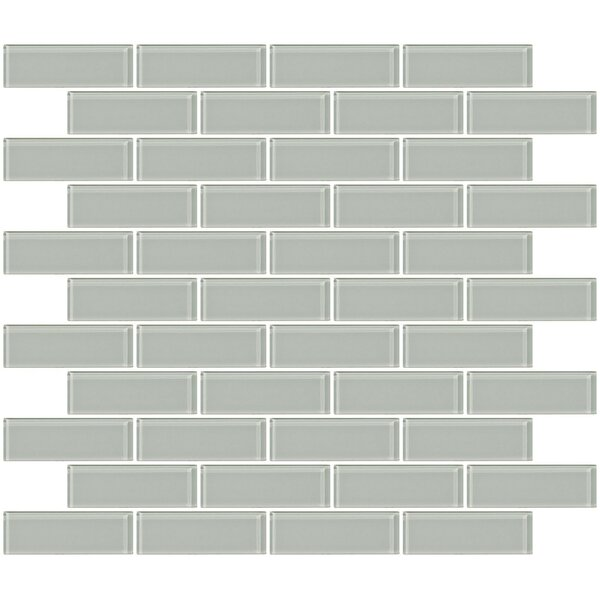 1 x 3 Glass Subway Tile in Light Gray by Susan Jablon