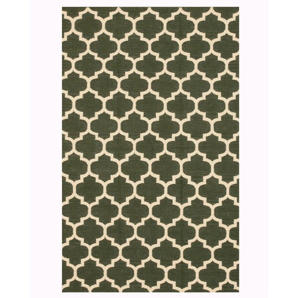 Handmade Green Area Rug by The Conestoga Trading Co.