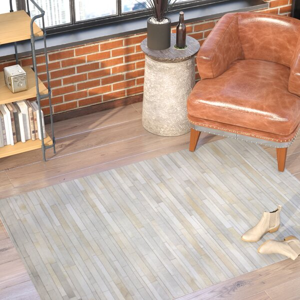 Wright Cow Hide Ivory Area Rug by Trent Austin Design