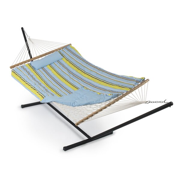 Adley Cotton Hammock with Stand by Beachcrest Home