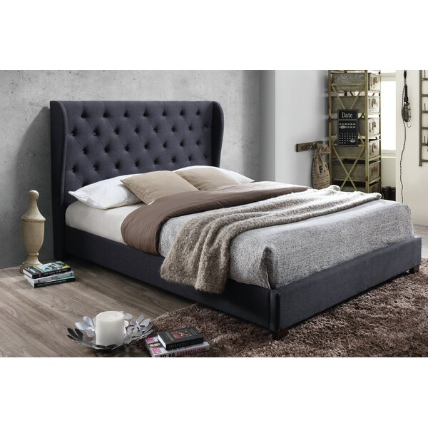 Lepore Beaded Queen Upholstered Platform Bed by House of Hampton House of Hampton