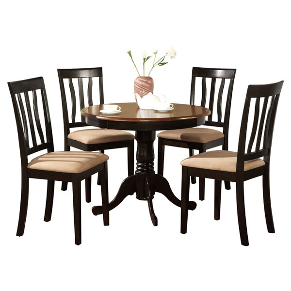 Artin 5 Piece Solid Wood Dining Set By Andover Mills Coupon
