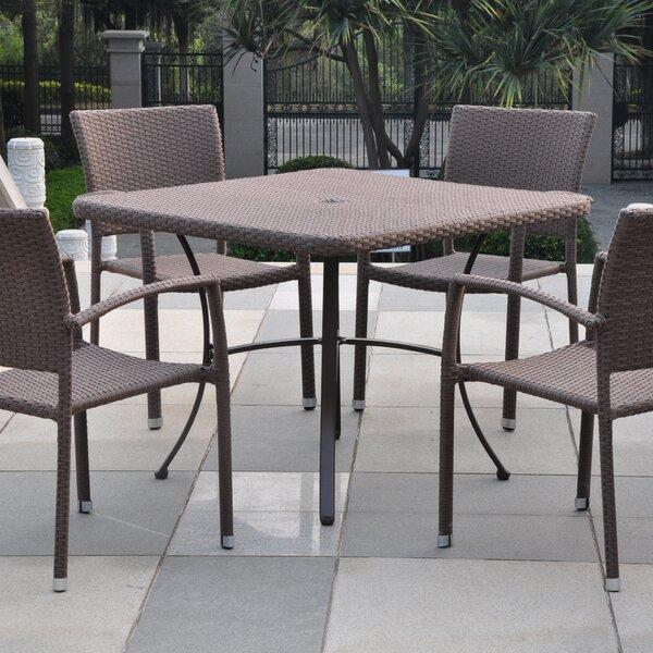Katzer Aluminum Dining Table by Brayden Studio