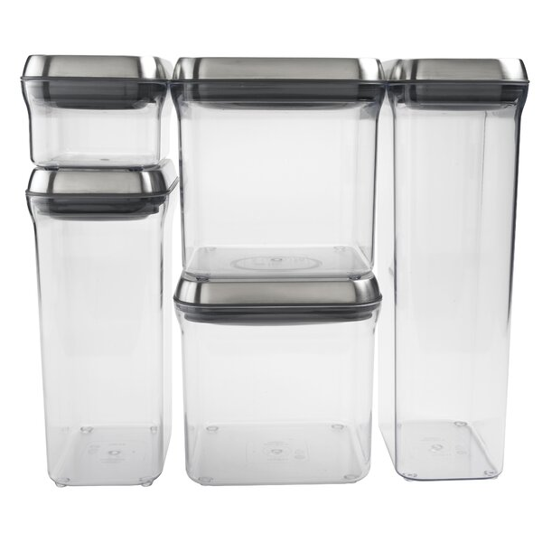 SteeL Pop 5 Container Food storage Set by OXO